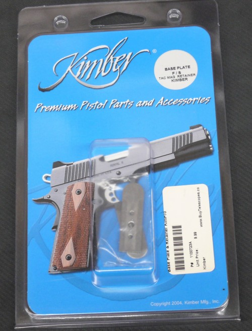 Kimber Kim-Pro Tac-Mag Replacement Base Plate and Retainer 1911 45 ACP Stainless Steel