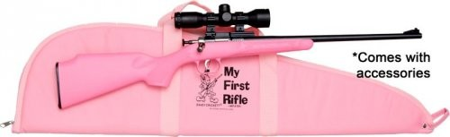 Crickett Gen 2 Package Bolt Action 22 LR 16.5 Inch 1 Rd Pink/ Black 4x32 Scope