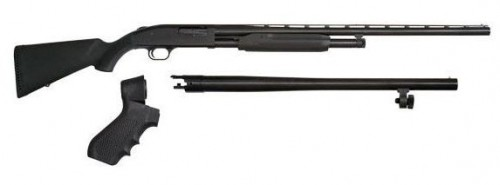 "Mossberg Maverick 88 Field & Security Pump Action Shotgun Combo Black 12 Ga 28 and 18.5"" Barrels 6 rd 3"" Chamber"