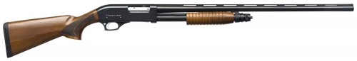 "Charles Daly 301 Field 12 Gauge Pump Action Shotgun 28"" Barrel 3"" Chamber 5 Rounds Wood Stock Black"