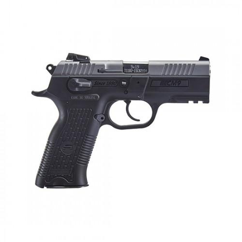 "SAR Arms CM9 9mm Luger Semi Auto Pistol 3.8"" Barrel 17 Rounds Magazine Adjustable 3 Dot Sights Ambidextrous Controls Picatinny Rail Two Tone CM9ST"