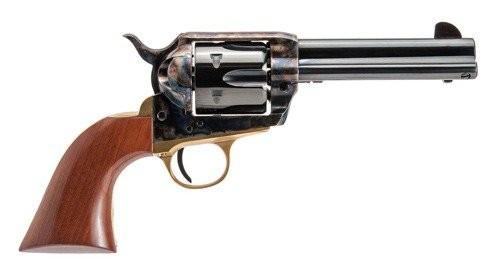 "Cimarron Pistolero .22 LR Single Action Rimfire Revolver 6 Rounds 4.75"" Barrel Pre-War Frame Walnut Grips Blued Finish"