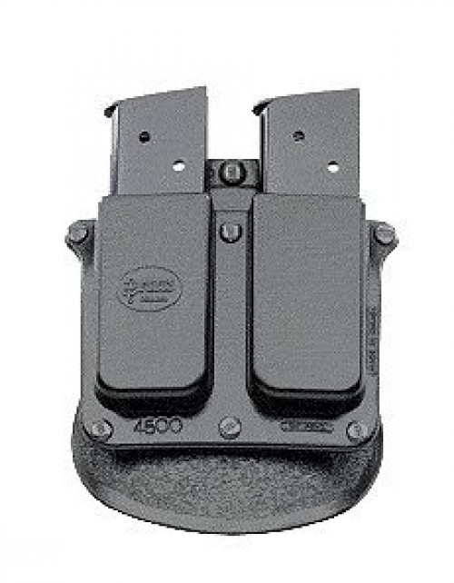 Fobus Roto Black Double Magazine Pouch for .45ACP Single Stack