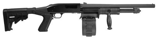 Adaptive Tactical Sidewinder Venom Black 12GA 2.75-inch Chamber 18.5-inch 10Rd Drum