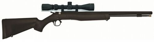 CVA Wolf Muzzleloader with 3-9x32 Konus Scope and Gun Case Combo - Blued/Black