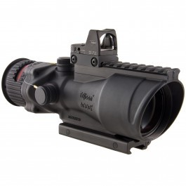 Trijicon 6x48 ACOG Riflescope, Dual Illuminated Red Chevron .223 Reticle w/ Colt Knob Thumbscrew Mount & LED 6.5 MOA Red Dot RMR Type 2, Black, 100559