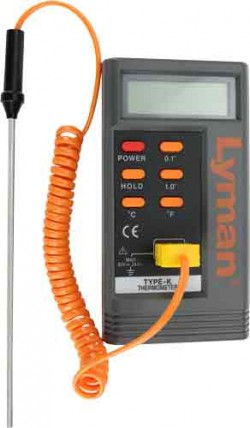 Lyman Digital Lead Thermometer 6-inch K-Type Thermocouple