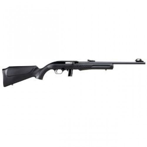 "Rossi RS22 Semi Auto Rimfire Rifle .22 LR 18"" Barrel 10 Rounds Fiber Optic Sight Synthetic Stock Matte Black Finish"