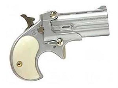 "Cobra Enterprises C22 Derringer .22 Long Rifle 2.4"" Barrels 2 Rounds Pearl Grips Satin Nickel Finish"