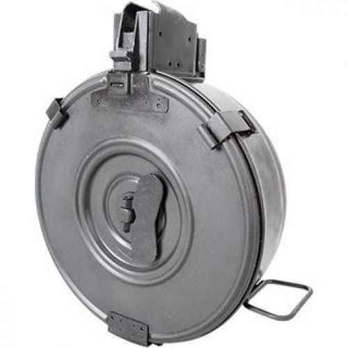 RWB Magazines Drum Magazine AK-47 75 Round Steel Black Hinged Back AK4775