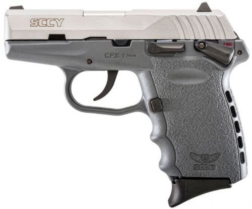 Sccy CPX-1 Stainless/Sniper Gray 9mm 3.1-inch 10rd Ambidextrous Safety