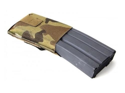 Blue Force Gear High Rise M4/AR-15 Belt Mounted Single Magazine Pouch Ten Speed Military Grade Elastic Matte Black BT-TSP-M4-HM-BK