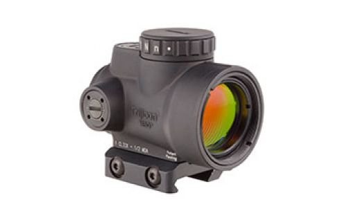 Trijicon MRO 1x25mm Adjustable Red Dot Sight, 2MOA Dot Reticle, Black w/MRO Low Mount, MRO-C-2200004